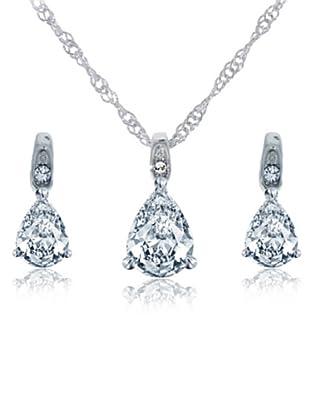 Diamond Style Juego pendientes y colgante drop