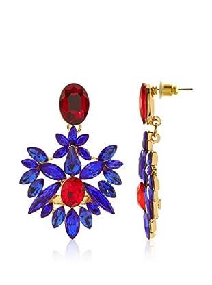 MAIOCCI Pendientes Dorado / Azul / Rojo
