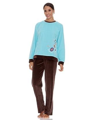 Blue Dreams Pijama Señora Tundosado (Azul)
