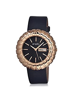 Simplify Women's 2106 The 2100 Black Leather Watch