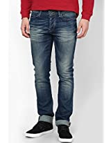 Blue Low Rise Skinny Fit Jeans United Colors of Benetton