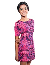 The Style Aisle Women's Body Con Dress (TSA08-B_Hot Pink_Small)