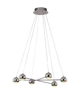 Bel Air Lighting LED 6-Light Propeller Pendant, Polished Chrome
