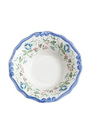 Tiffani Schale Paradis weiß/azurblau