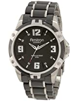 Armitron Men's 204718BKBK Black Ceramic Stainless Steel Black Ceramic Bracelet Watch