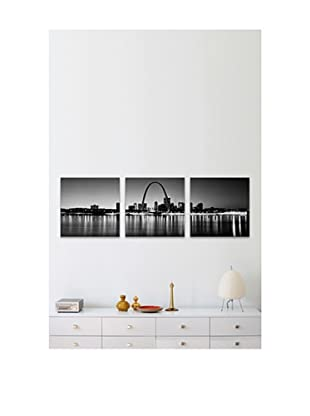 Gateway Arch Panoramic Giclée Canvas Print Triptych