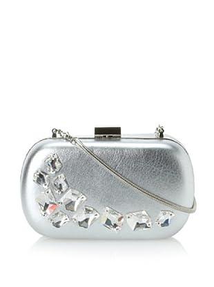 Inge Christopher Women's Vegas Embellished Minaudiere (Silver)