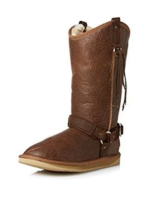 Australia Luxe Collective Women's Long Sheepskin Boot with Harness and Fringe