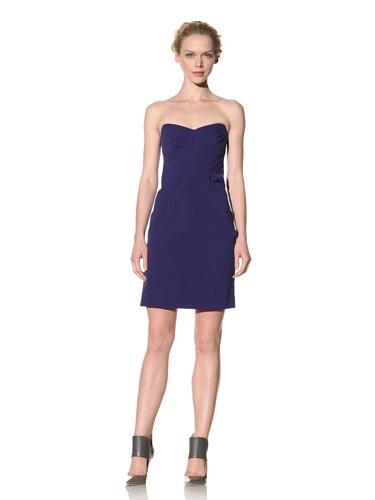 Philosophy di Alberta Ferretti Women's Strapless Dress with Diagonal Pleats (Navy blue)