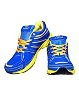 Livia545 Blue Yellow Jogging Sports Shoes