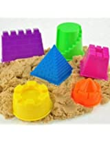 GBI 6Pcs a Set Mini Baby Children Kids Indoor Toy Beach Seaside Model Castle Clay Moving Magic Sand Gift