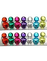 14pcs Strong Magnetic Thumbtacks Neodymium Pins Fridge Magnets Teaching Painting Thumbtack