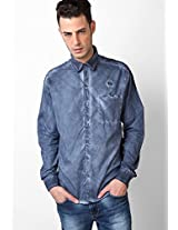 Blue Solids Casual Shirts John Players