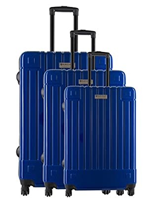 Creation Olivier Lapidus Pour Platinium Set 3 Trolley 4 Ruedas Design (Azul)