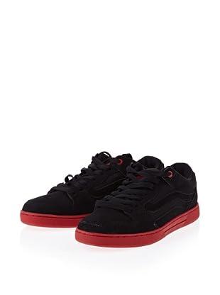 Vans Baxter VL3MBKA Herren Klassische Sneakers (Schwarz (Black/Black/Red))