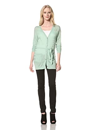 Just Cavalli Women's Long Cardigan with Pockets (Turquoise)