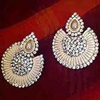 Earrings - White Pearl danglers-drops