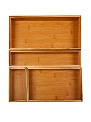 Core Bamboo 4-Piece Drawer Organizer Set