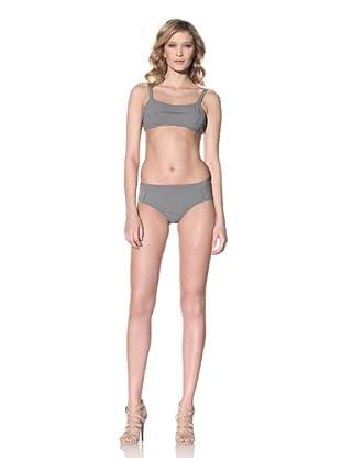 MARNI Women's Micro-Gingham Bikini (Carbone)
