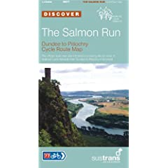The Salmon Run, Dundee to Pitlochry Sustrans Cycle Route Map: Sustrans' Official Route Map and Guide to the 54 Miles of National Cycle Network from Dundee to Pitlochry in Scotland (Sustrans National Cycle Network)