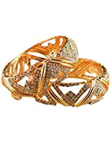 Trendy Fashion Wear Gold Plated Bangles by Mirraw.com
