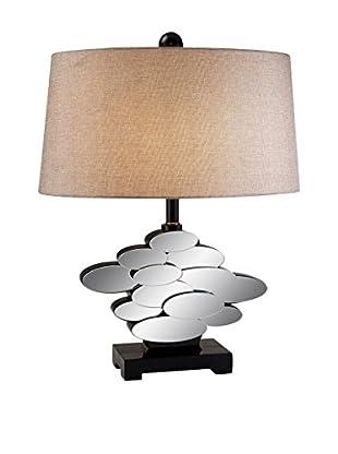 ORE International Estate 1-Light Table Lamp, Mirror/Bronze