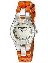 Baume Mercier Womens BMMOA10115 Linea Analog Display Quartz Orange Watch