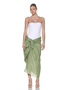 Chris Benz Women's Luxury Linen Sarong (Green)