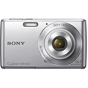 Sony Cyber-shot DSC-W620 14.1MP Point-and-Shoot Digital Camera (Silver) with Camera Case