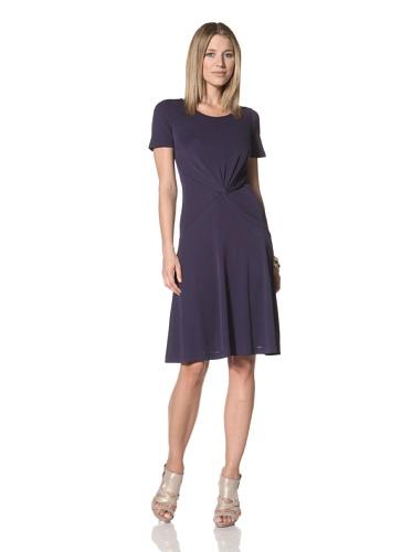 Halston Heritage Women's Twist Front Dress (Midnight)