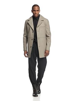 Rochambeau Men's Single-Breasted Pea Coat (Flint Grey)