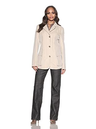 Loro Piana Women's Portofino Rain Jacket (Neutral/Cream)