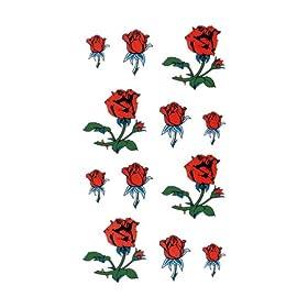 【クリックで詳細表示】祭化粧 R048 小さな薔薇(17.5cm x 10cm)