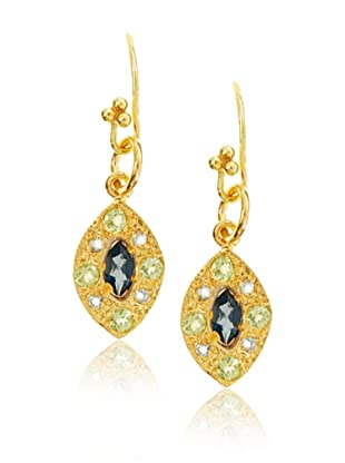 Robindira Unsworth London Blue Topaz Marquis Earrings