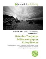 Liste Des Temptes Mtorologiques Europennes