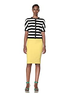 Moschino Cheap and Chic Women's Striped Cardigan (Black/White)