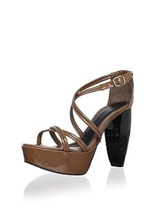 MARNI Women's Sandal Vitello Vernice (Tobacco)