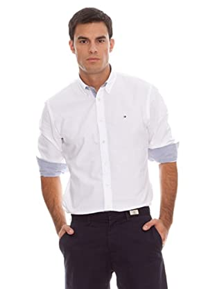 Tommy Hilfiger Camisa College Oxford Cf2 (blanco)