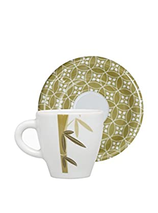 Molecuisine Kaffeetasse mit Untertasse 4er Set Magatama gelb