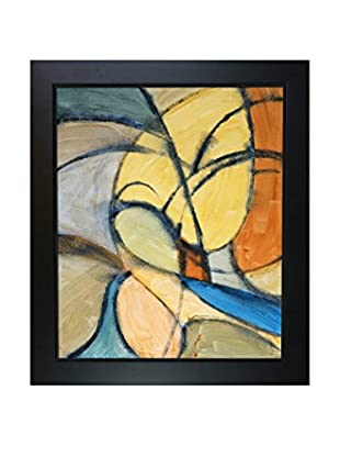 Clive Watts Curvey Abstraction Framed Print On Canvas, Multi, 28.75