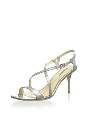 Charles David Women's Bezel Crisscross Sandal (Silver Patent)