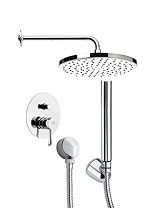 Remer By Nameek's 4-Piece Orsino Round Wall-Mounted Shower Set, Chrome