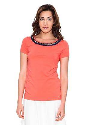 Pedro del Hierro Camiseta Cadena (Coral)