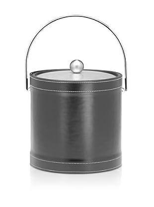 Kraftware Stitched Ice Bucket (Black)