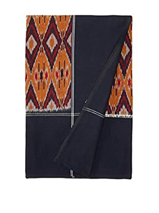 Nomadic Thread Society Ikat Bed Cover, Navy/Gold, Twin