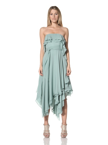 Halston Heritage Women's Handkerchief Dress (Celadon)