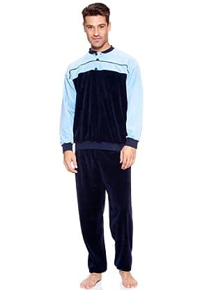 Basket Pijama Velour Tapeta Elástico (Azul)