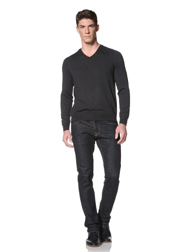 Cullen Men's V-Neck Sweater (Charcoal)
