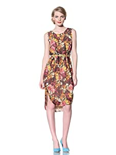 Chris Benz Women's Sleeveless Florabunda Printed Dress (orange/pink)