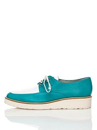 Flavio Menorca Zapatos Cloe (Verde Azulado / Blanco)